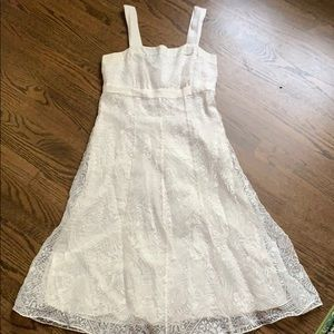 Tea length beautiful white sundress, size 4.